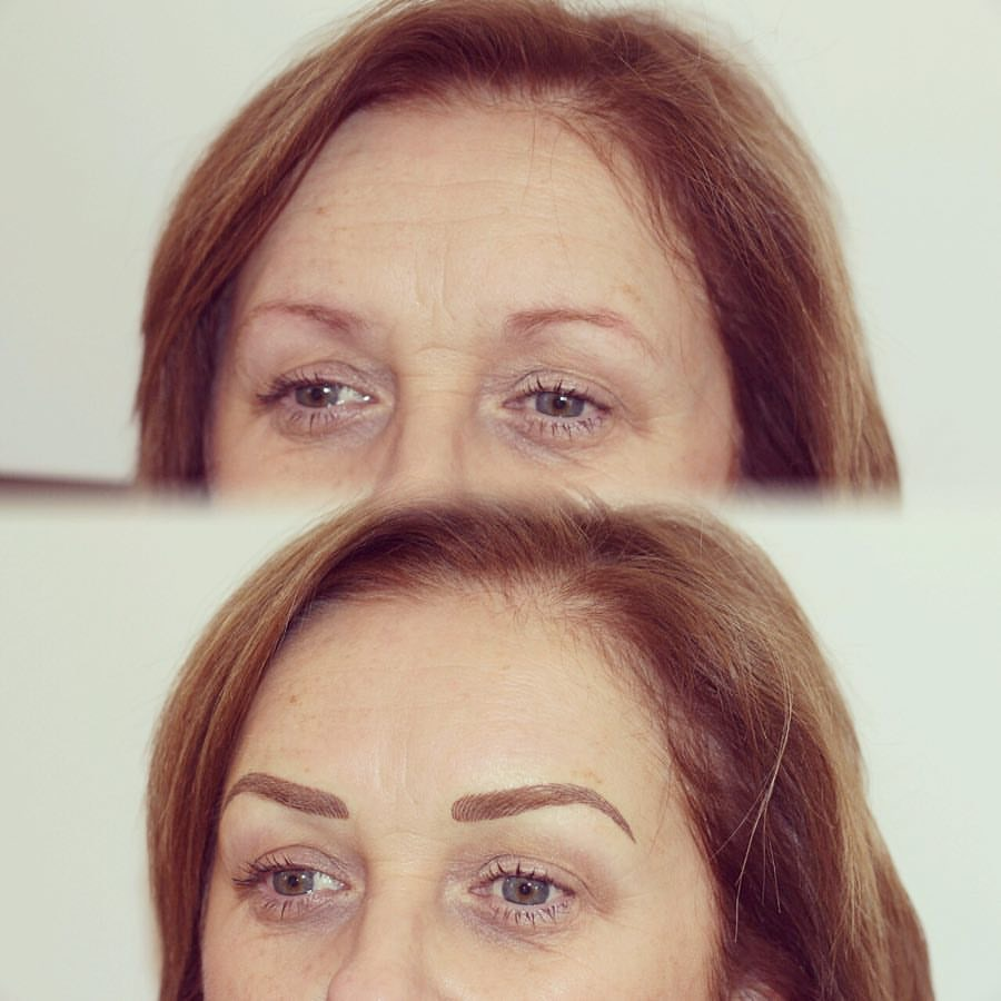 Permanent Brows Eyebrows before and after image