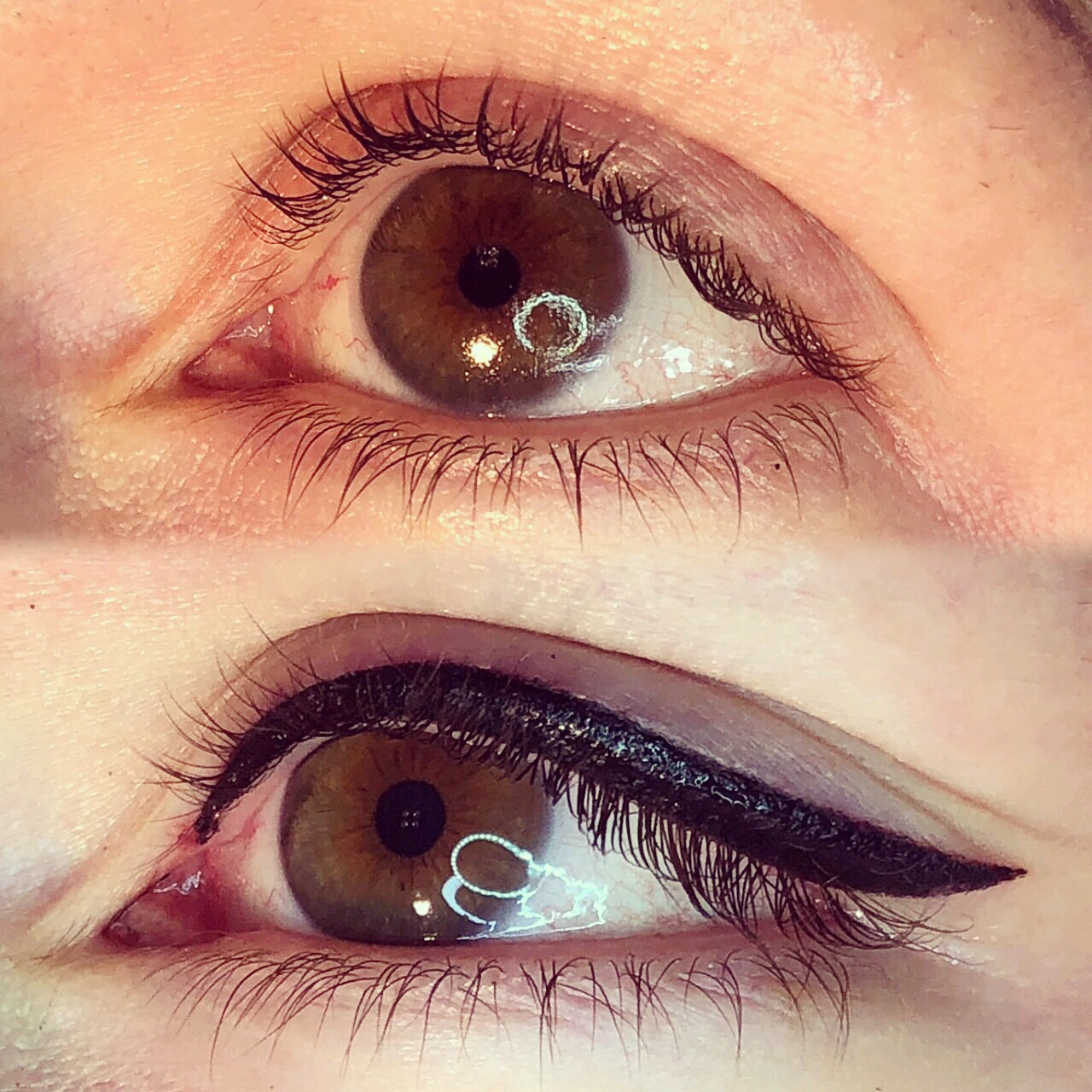Permanent Eyes before and after image