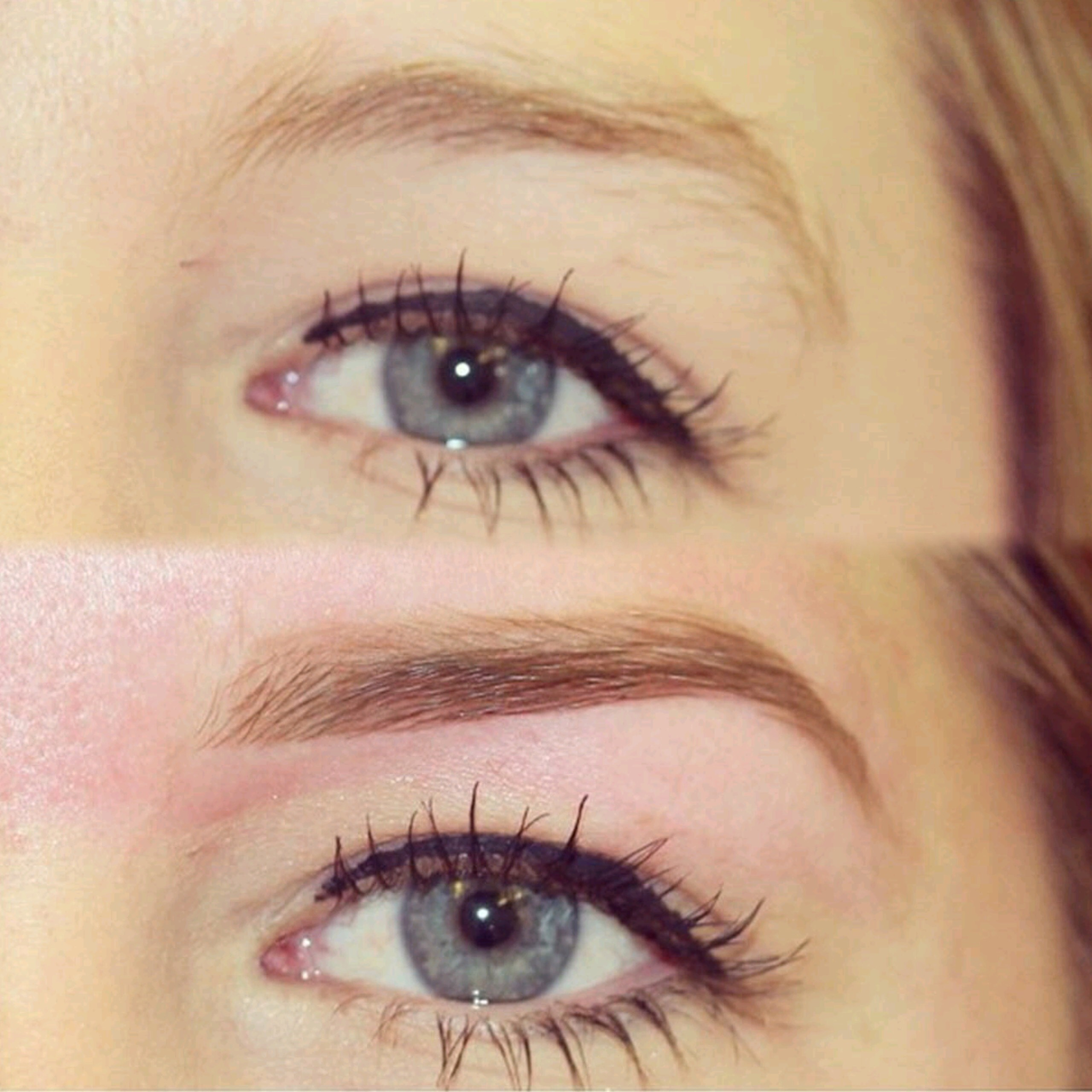 High Definition Brows Eyebrows before and after image