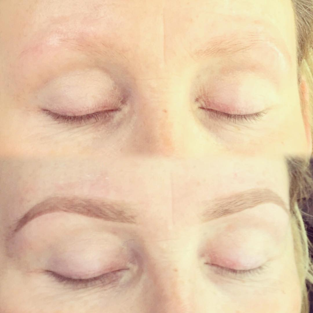HD Brows Eyebrows before and after image